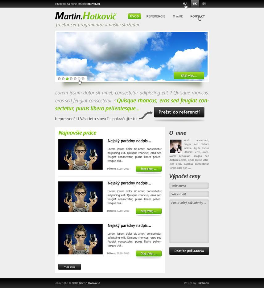 Portfolio webdesign no.2 by chrbet