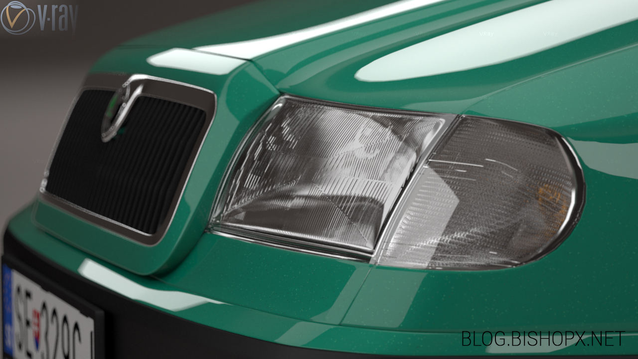 Skoda Felicia headlight detail by chrbet