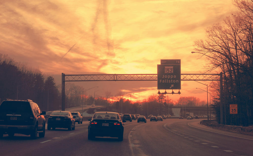 Highway Run by soumya-digi