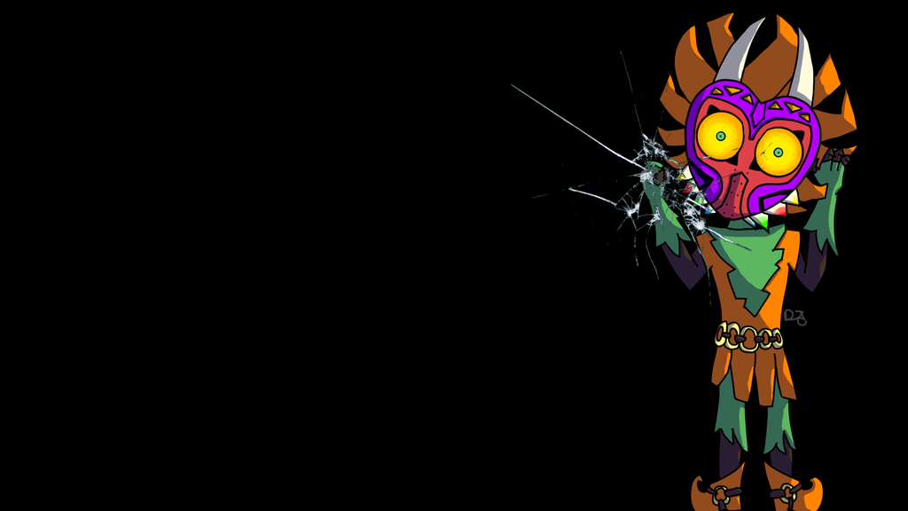 Skull Kid Wallpaper: Skull Kid Background (TLoZ MM) By Deltatheanimal On DeviantArt