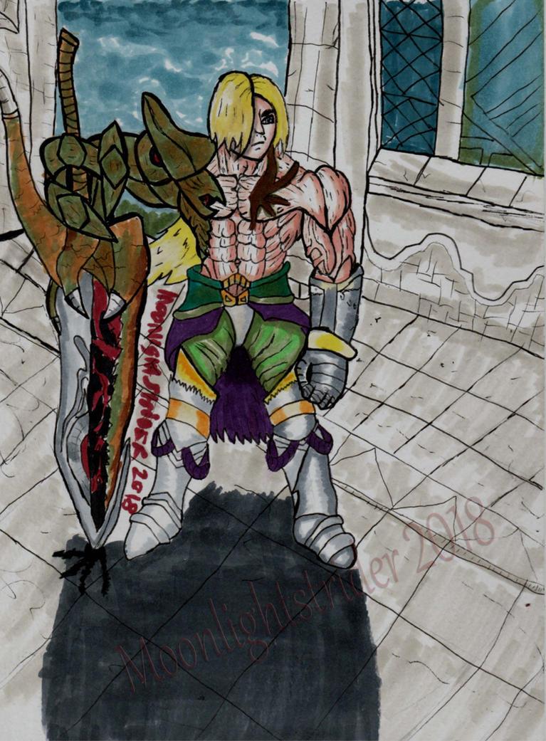 FANART: Siegfried, The Azure Nightmare by MoonlightStrider