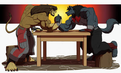Arm Wrestling Competition by Galen