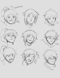 Expression Studies (With RWBY) by Legacyhunter