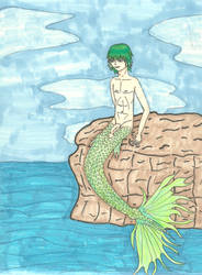 Baltic the merman by shadow---cat