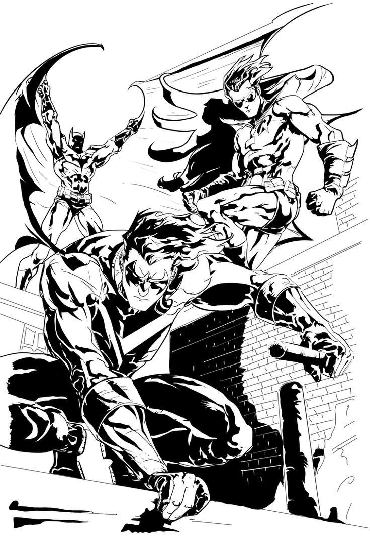 Batman, Robin and NightWing by PhillieCheesie on DeviantArt