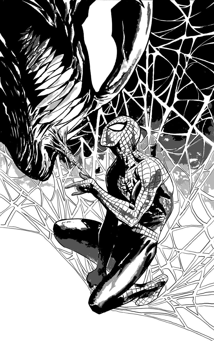 Venom Spiderman Drawing Venom Spider-ma...