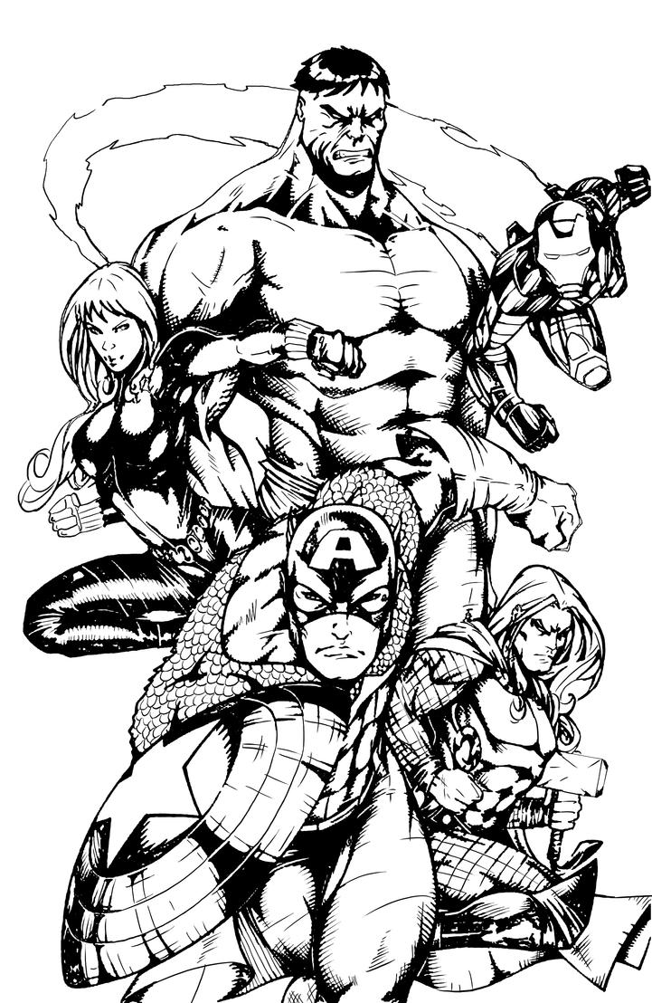 avengers coloring pages a400 - photo#34