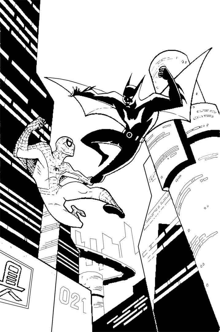 Spider man vs batman beyond by philliecheesie
