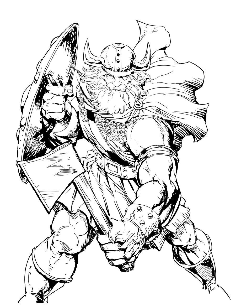 Viking By Philliecheesie On Deviantart Coloring Pages Vikings