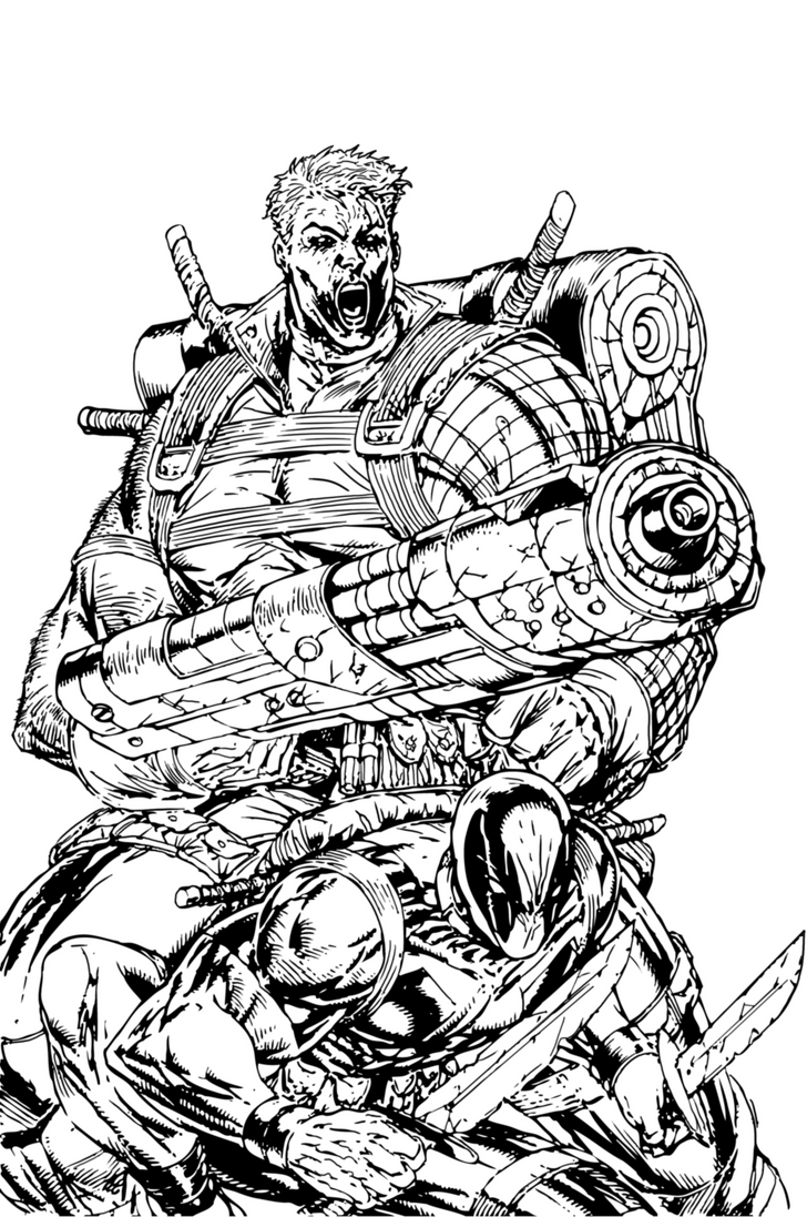 Lego Marvel Coloring Pages Awesome Gemtlich: Cable And Deadpool By PhillieCheesie On DeviantArt