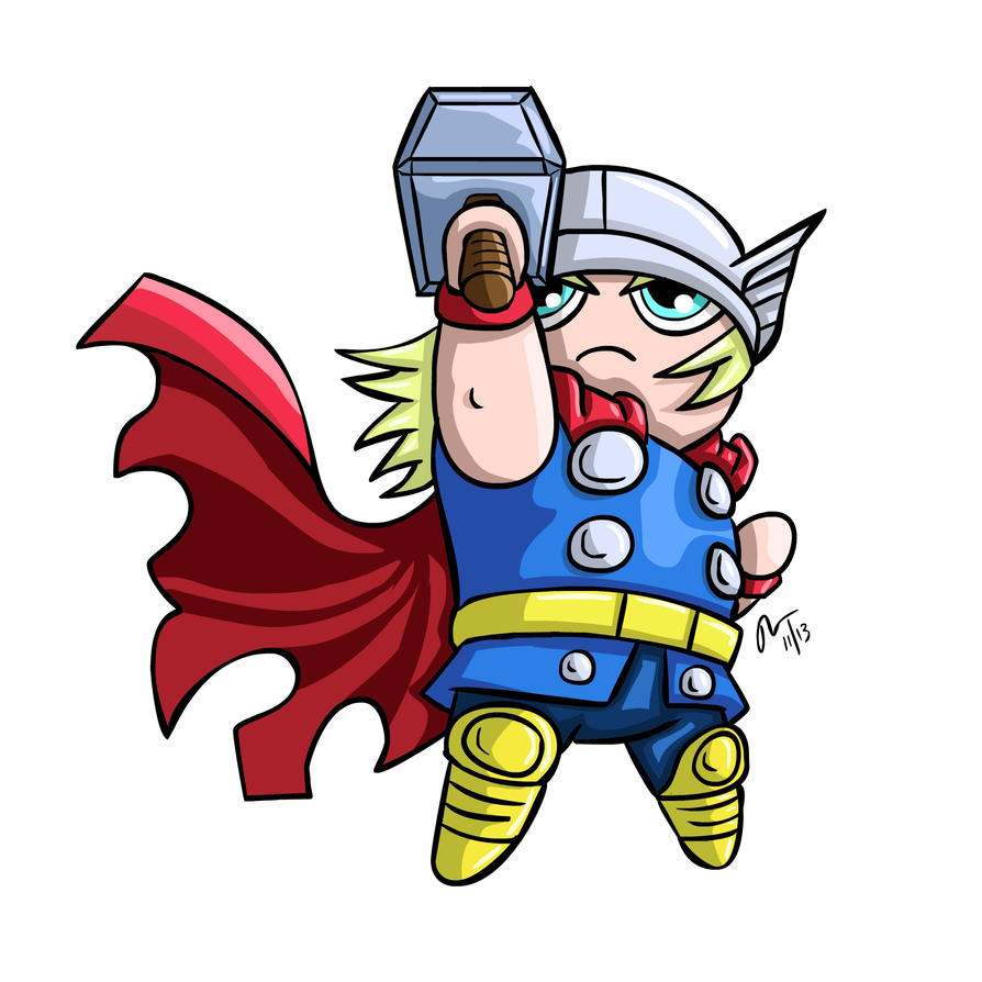 Chibi Thor by PhillieCheesie on DeviantArt