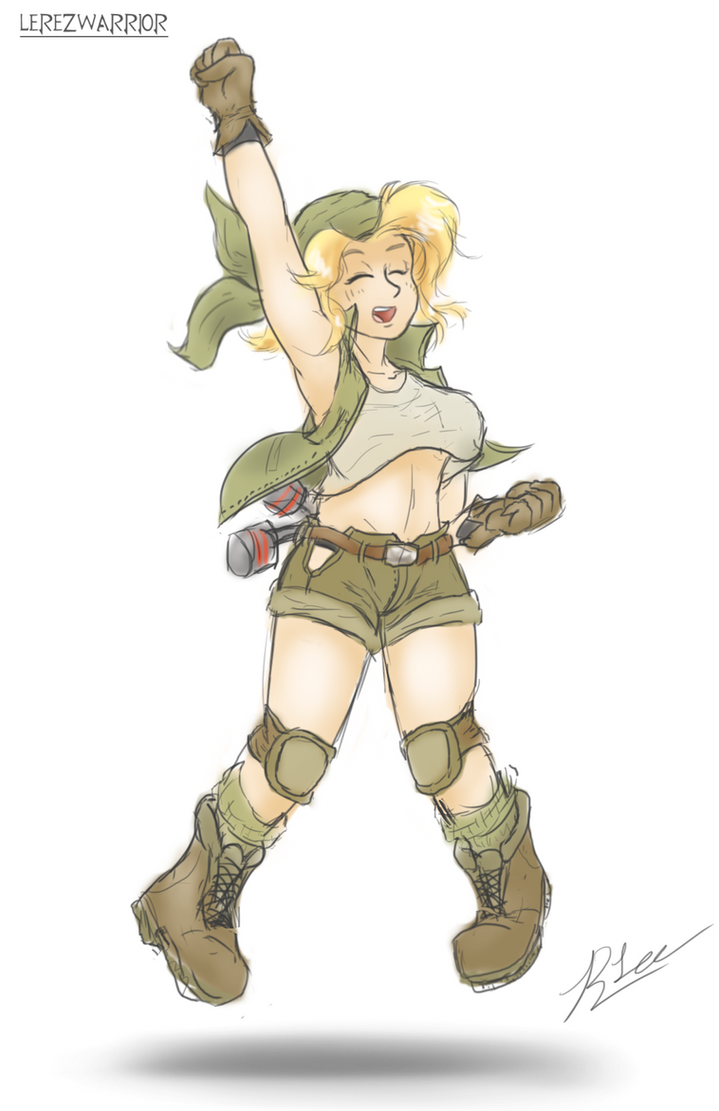 eri kasamoto colored sketch metal slug by lerezwarrior