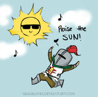 Chibi Solaire and the SUN by UsagiLovex