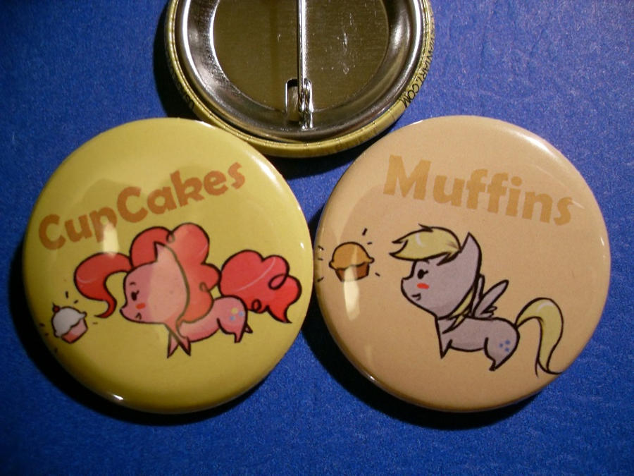 My Little Chibi's-CupCakes and Muffins button set by UsagiLovex