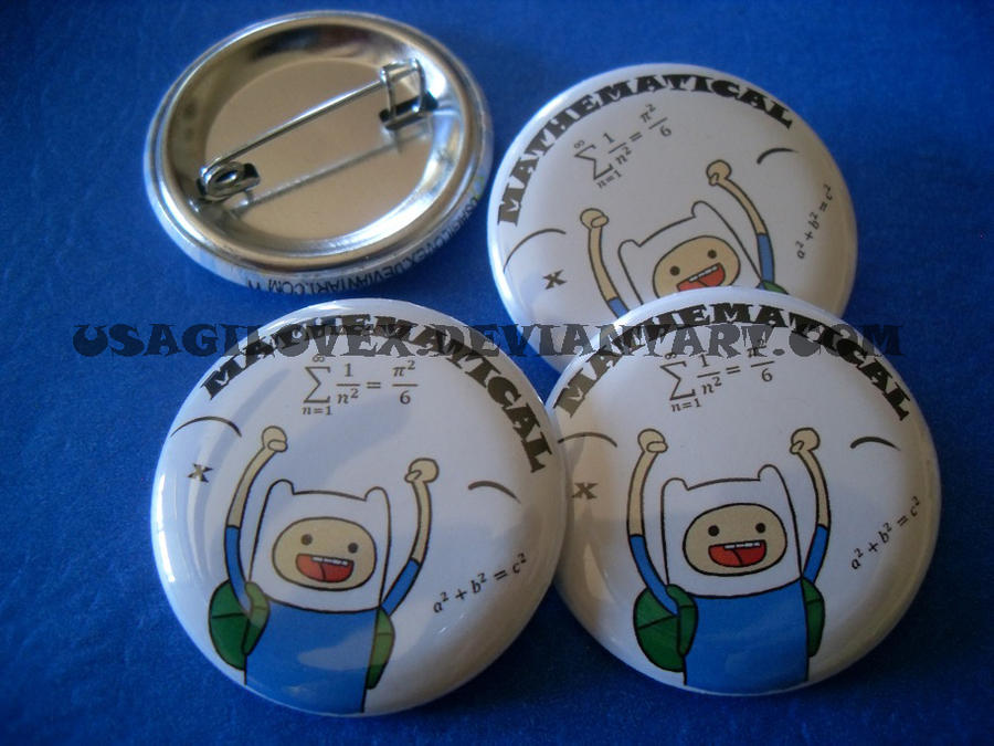 Mathematical Finn button by UsagiLovex