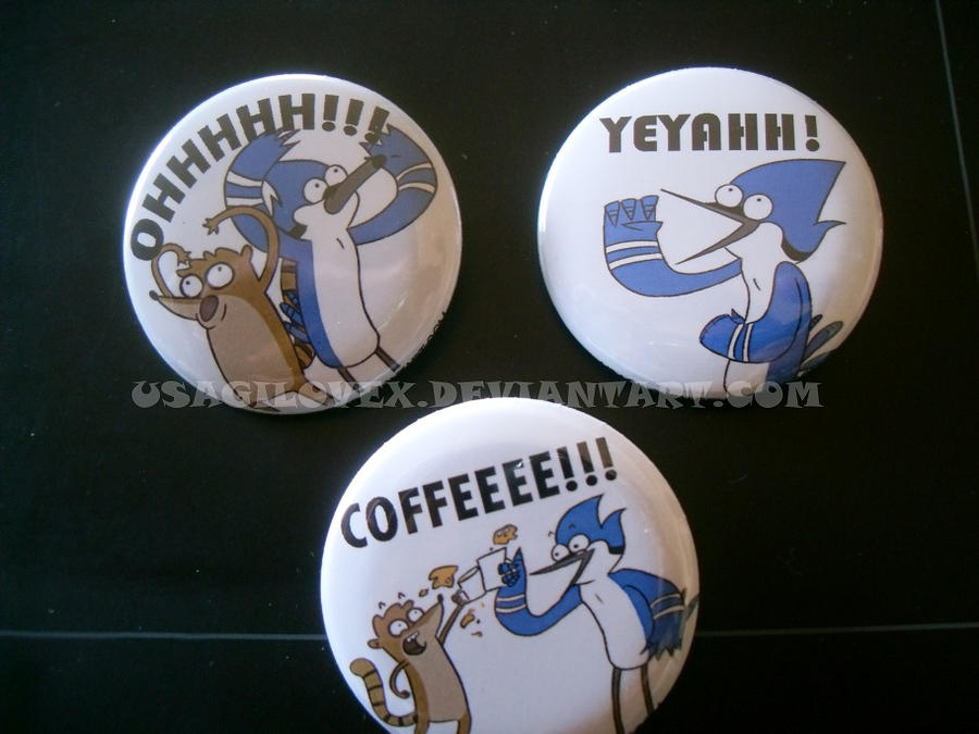 Regular Show Button Set by UsagiLovex