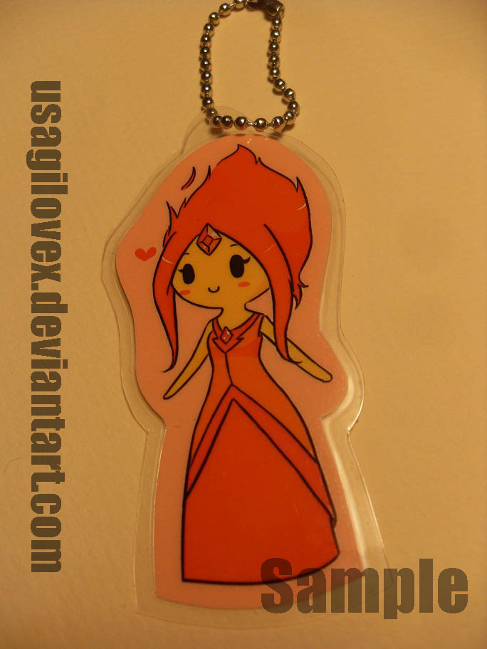 Flame Princess Keychain by UsagiLovex