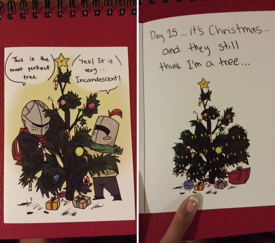 Dark Souls: Christmas Card (The Tree) by UsagiLovex on DeviantArt