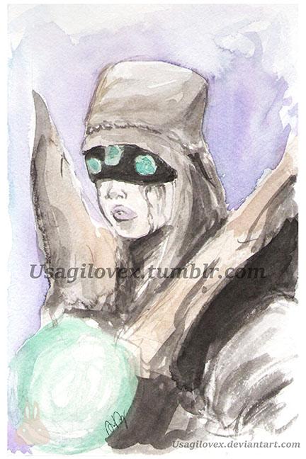 Destiny Eris watercolor by UsagiLovex