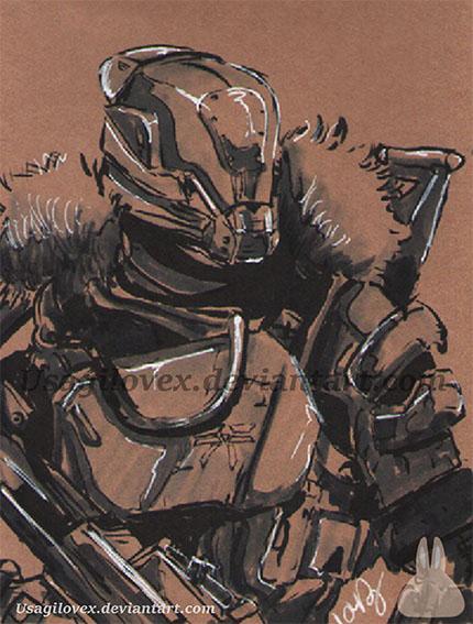 Titan Destiny - ink by UsagiLovex