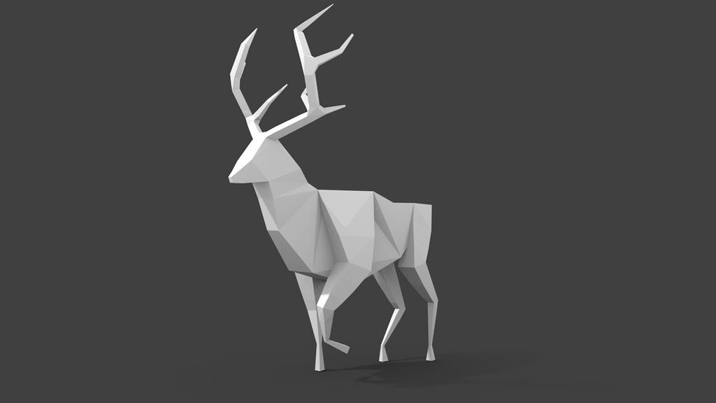 origami deer by beornwulff on deviantart