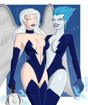 Livewire and Hawkgirl