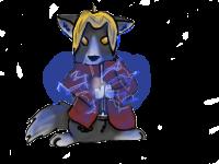 Edward Wolf Pose Attempt 2 by Kyaflufflewolf
