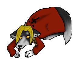 Edward Lying Pose by Kyaflufflewolf