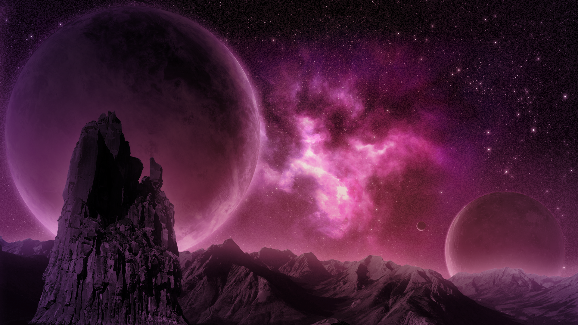 purple pink nebula - photo #43