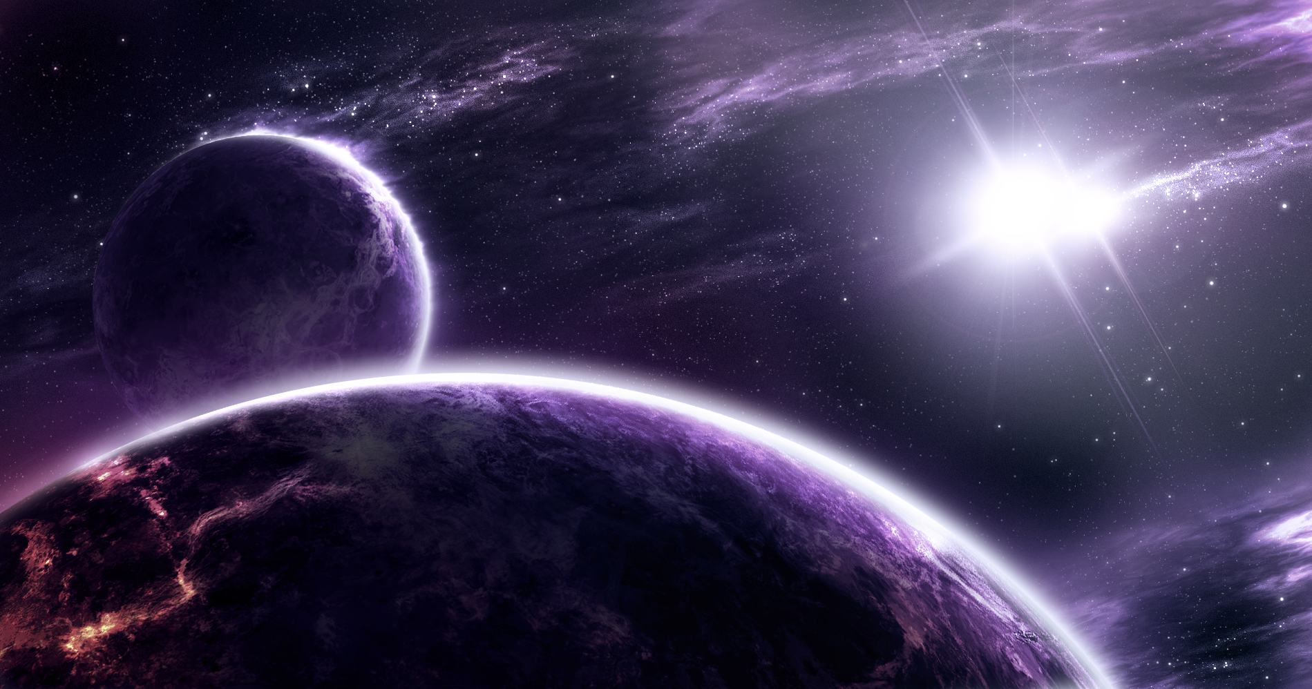 fiery nebula purple - photo #4