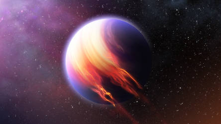 Fiery Gas Giant by Geoplex