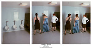Three Women At The Urinal