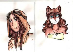 Des pitites aquarelles by Kayra-Wolfy