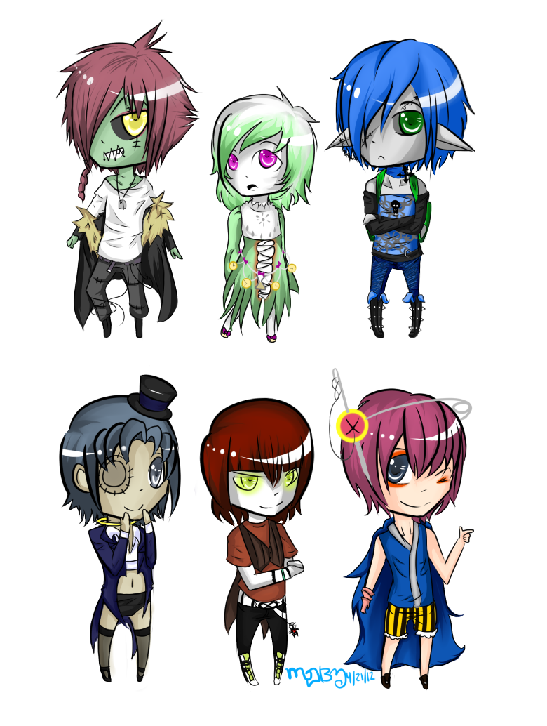 Hiems Mansion Chibi Batch 1 by Bootsii