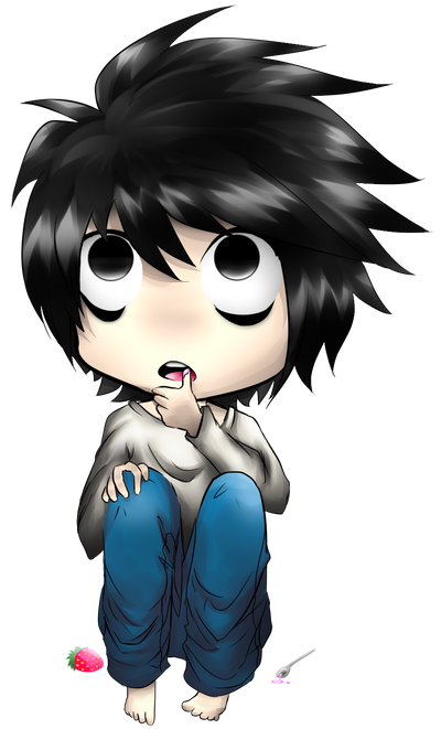 Death Note L Chibi by Bootsii on DeviantArt