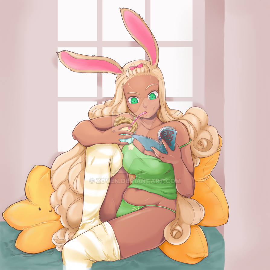 Bunny N Custard by zoven