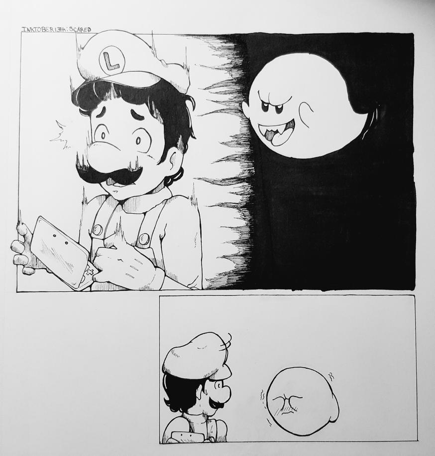 Inktober 13: Scared by zoven