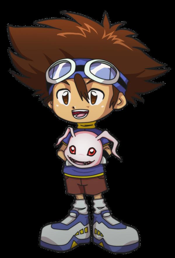 Chibi Taichi with Koromon by Deco-kun