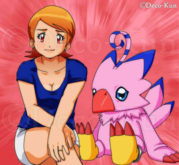 Sora and Piyomon by Deko-kun