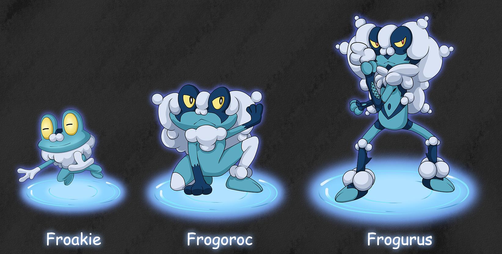 Froakie's Evolutions by Deko-kun on DeviantArt