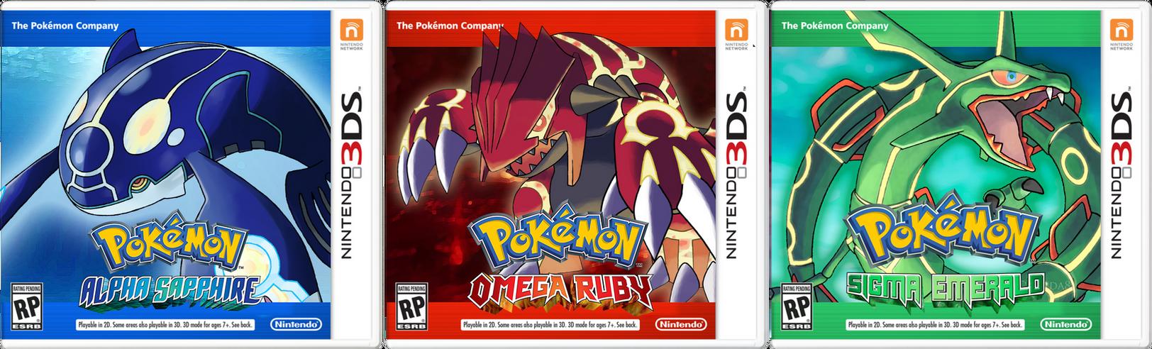 Pokemon Omega Ruby Alpha Sapphire Sigma Emerald by Deko-kun