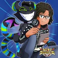 Commission - Mako and Cheshiremon by Deko-kun