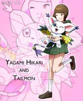 Dtri. - Yagami Hikari and Tailmon by Deko-kun