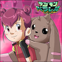 Digimon Parallel-Best Partner-Shaochung and Lopmon by Deko-kun