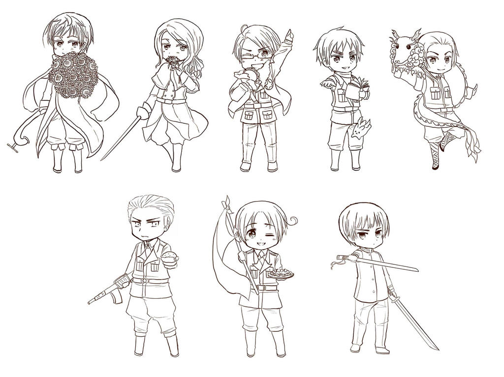 hetalia coloring pages allies - photo#19