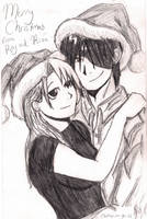 Roy and Riza-Christmas by fluffpuffgerbil