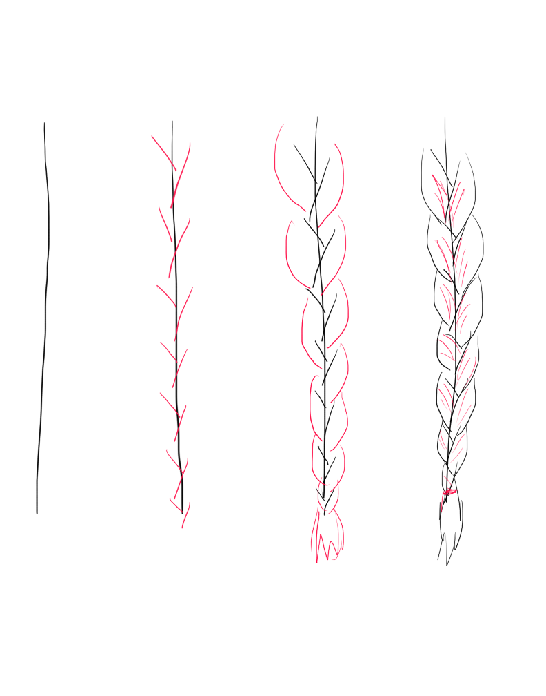 Drawing Braids Tutorial by fluffpuffgerbil on DeviantArt