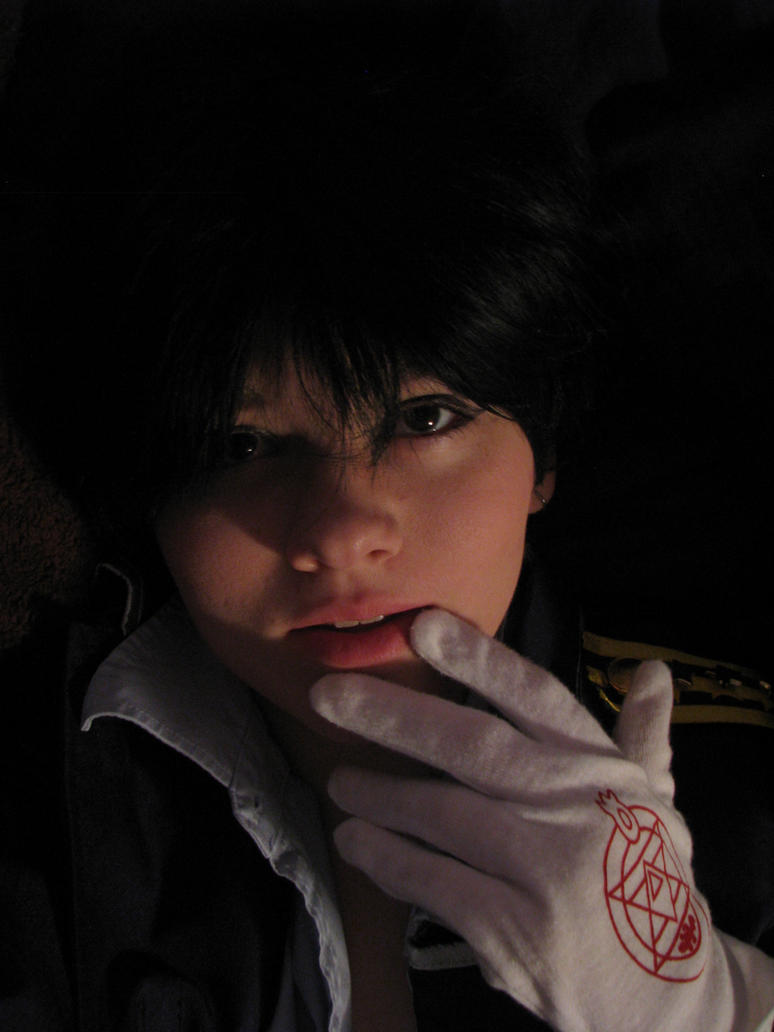 Roy Mustang midnight selfie 2 by fluffpuffgerbil