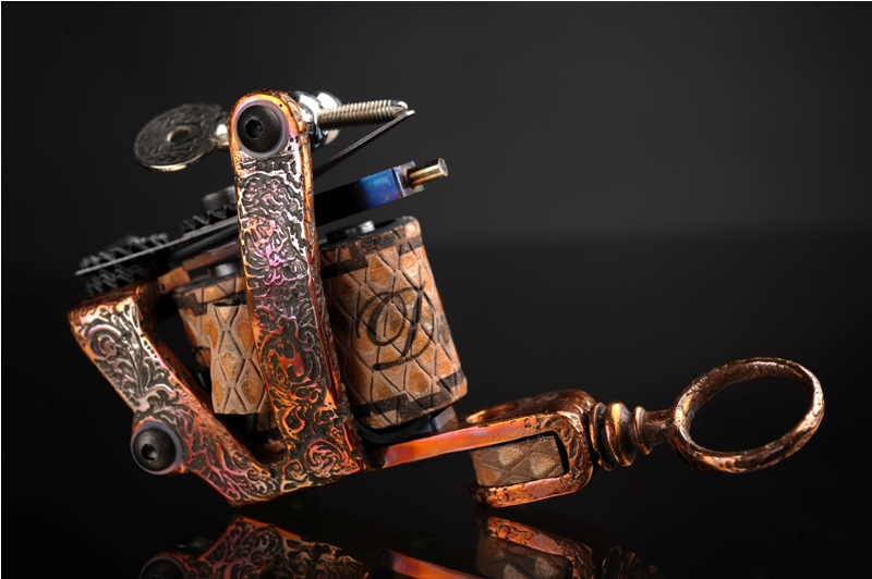 Copper Tattoo Machine By SkinDiggers