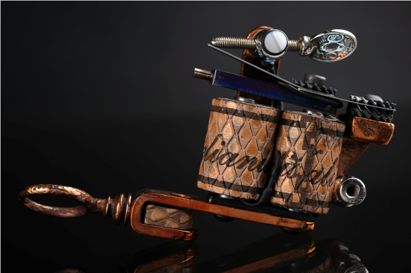 Handmade Copper Tattoo Machine By SkinDiggers